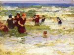 at the beach i by edward henry potthast painting