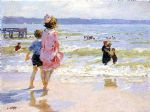 at the seashore by edward henry potthast painting