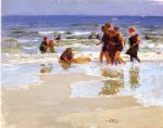 at the seashore ii by edward henry potthast painting
