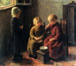 blowing bubbles by edward henry potthast oil paintings