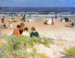 edward henry potthast acrylic paintings - by the shore by edward henry potthast