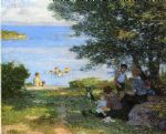 by the water by edward henry potthast oil paintings
