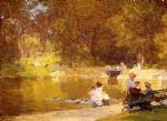 edward henry potthast watercolor paintings - in central park by edward henry potthast