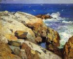 edward henry potthast watercolor paintings - the maine coast by edward henry potthast