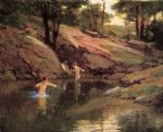 the swimming hole by edward henry potthast painting
