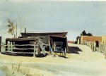 edward hopper adobes and shed new mexico painting