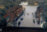 american acrylic paintings - american village by edward hopper