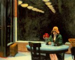 automat by edward hopper painting