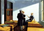 edward hopper conference at night painting