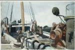 deck of a beam trawler gloucester by edward hopper painting