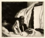 edward hopper original paintings - evening wind by edward hopper