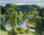 edward hopper original paintings - first branch of the white river vermont by edward hopper