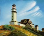 edward hopper lighthouse at two lights art