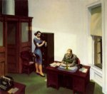 edward hopper famous paintings - office at night by edward hopper