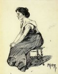 edward hopper study of a seated woman painting