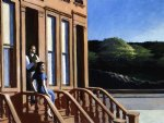 edward hopper sunlight on brownstones painting
