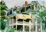 edward hopper the mansard roof painting