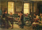 edward lamson henry art - a country school by edward lamson henry