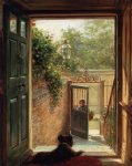 edward lamson henry acrylic paintings - a philadelphia doorway by edward lamson henry