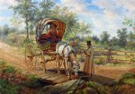 edward lamson henry acrylic paintings - at the watering trough by edward lamson henry