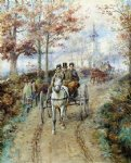 edward lamson henry acrylic paintings - carriage ride by edward lamson henry