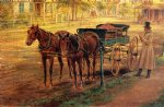 edward lamson henry acrylic paintings - horse and buggy by edward lamson henry