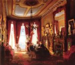 edward lamson henry acrylic paintings - parlor on brooklyn heights of mr. and mrs. john ballard by edward lamson henry