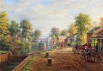 edward lamson henry acrylic paintings - scene along delaware and hudson canal by edward lamson henry