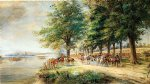edward lamson henry original paintings - the army of general burgoyne by edward lamson henry