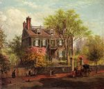 edward lamson henry acrylic paintings - the john hancock house by edward lamson henry