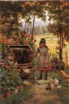 edward lamson henry acrylic paintings - the little flower girl by edward lamson henry