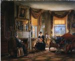 edward lamson henry acrylic paintings - the sitting room by edward lamson henry