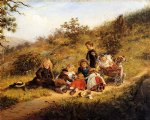 edward lamson henry artwork - the sunny hours of childhood by edward lamson henry