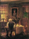 edward lamson henry artwork - the widower by edward lamson henry