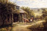 edward lamson henry acrylic paintings - unexpected visitors by edward lamson henry