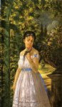 edward lamson henry artwork - young girl with a parrot by edward lamson henry