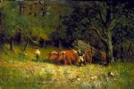 edward mitchell bannister art - boy and man with oxen by edward mitchell bannister