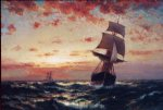 ship original paintings - ships at sea ii by edward moran