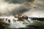 shipwreck by edward moran painting