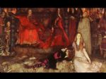 edwin austin abbey artwork - hamlet play scene by edwin austin abbey