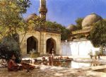 edwin lord weeks art - figures in the courtyard of a mosque by edwin lord weeks