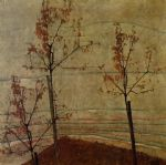 egon schiele autumn trees painting 77118