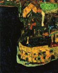 egon schiele city on the blue river paintings