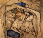 egon schiele watercolor paintings - conversion by egon schiele
