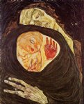 egon schiele watercolor paintings - dead mother by egon schiele