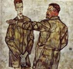 egon schiele double portrait of heinrich bensch and his son otto posters