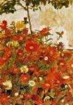 egon schiele field of flowers painting 78799