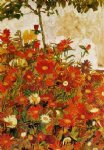 egon schiele field of flowers painting 34520