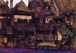 egon schiele houses on the moldau krumau prints