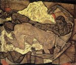 love original paintings - lovers man and woman i by egon schiele